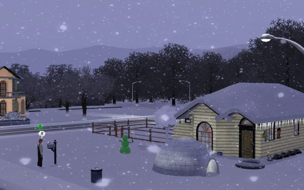 Screenshot Sims 3 Seasons (winter)