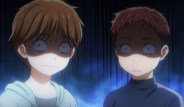 Screenshot anime Chihayafuru. Something scary has been seen.