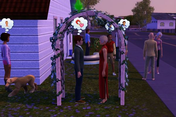 Screenshot Sims 3: a simple home wedding