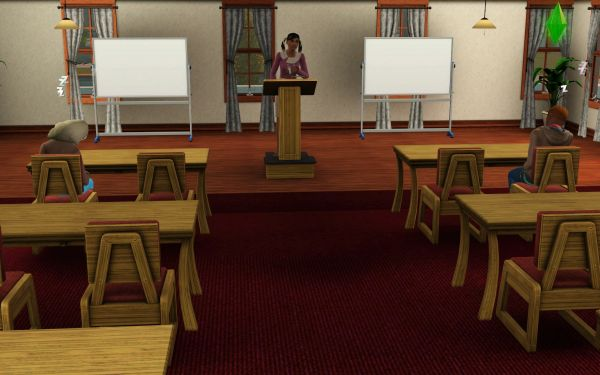 Screenshot Sims 3 University Life - sleepy students