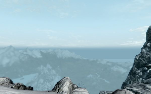 Skyrim view from mountain top