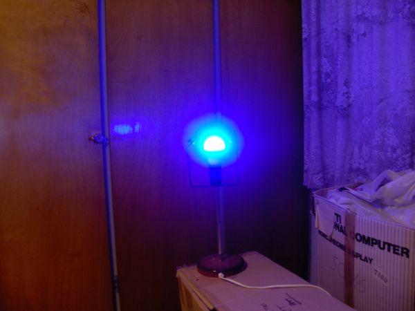 LED lamp, dark blue light