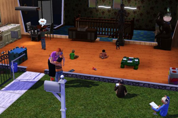 Sim children at day care